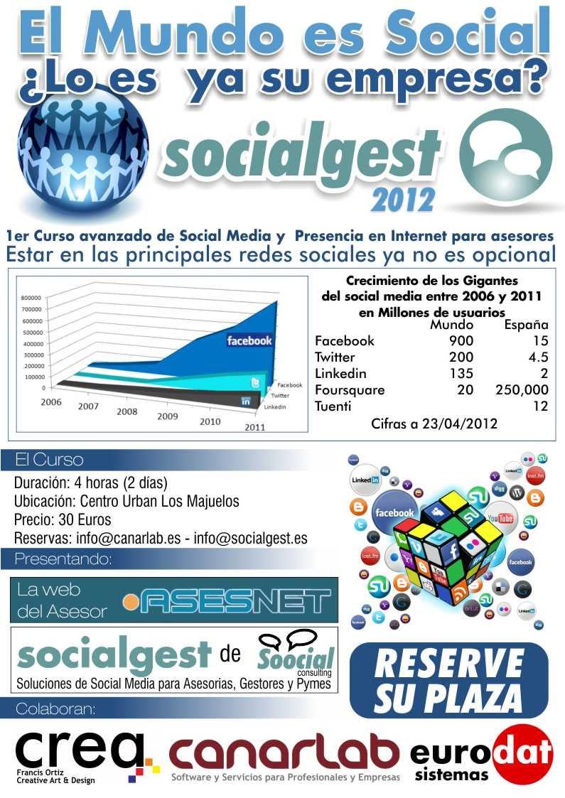 Primer Curso de Redes Sociales empresariales socialgest en Tenerife 2012