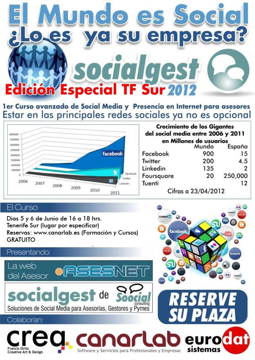 Curso socialgest 2012 Edición TF Sur