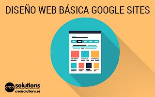 Diseño de Web en Google Sites Servicios de Crea Solutions Canarias