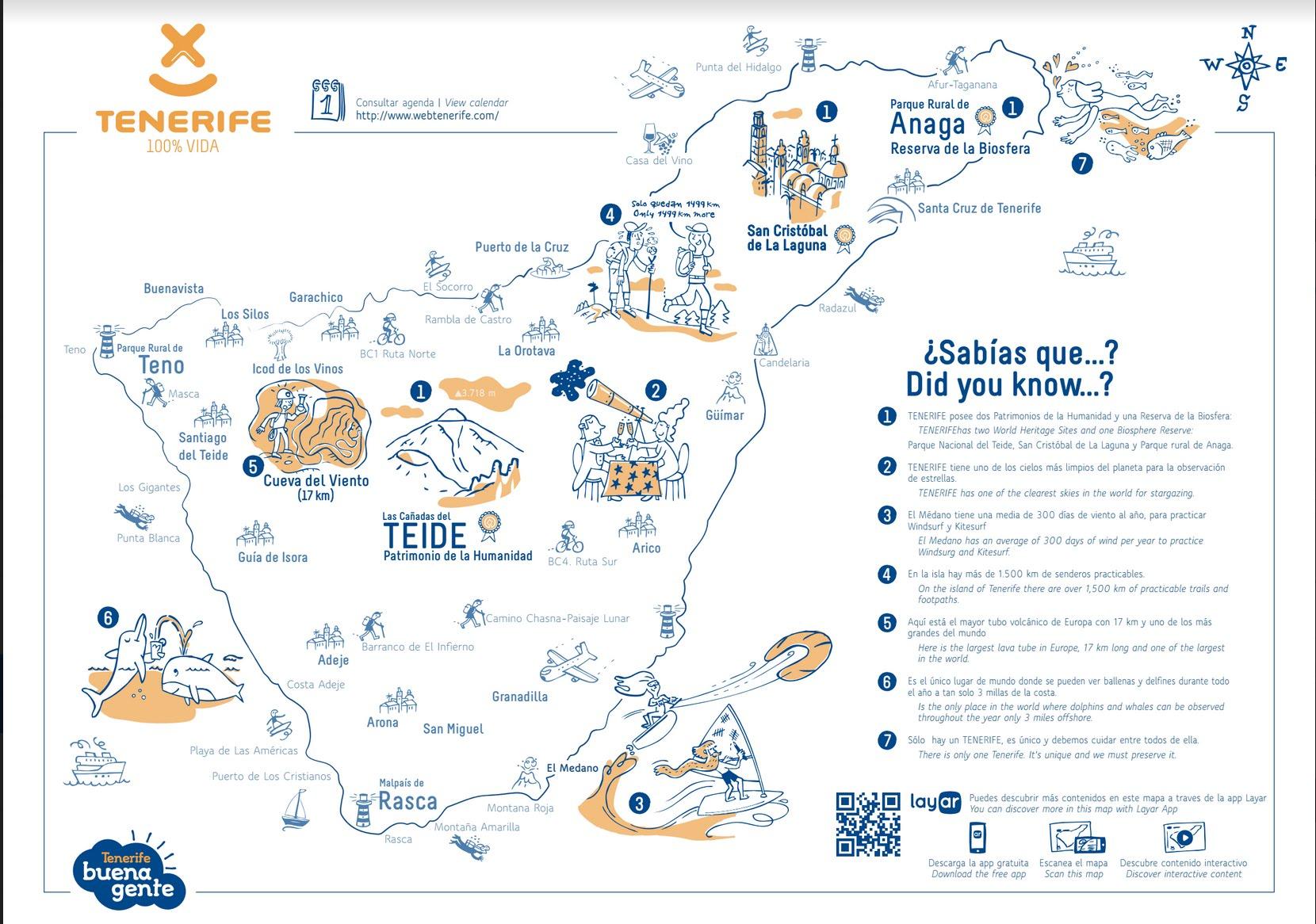 Tenerife Aumentado, Mapa Salvamantel demo